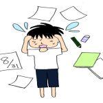 中学生男子の夏休みの宿題を早く終わらせる方法